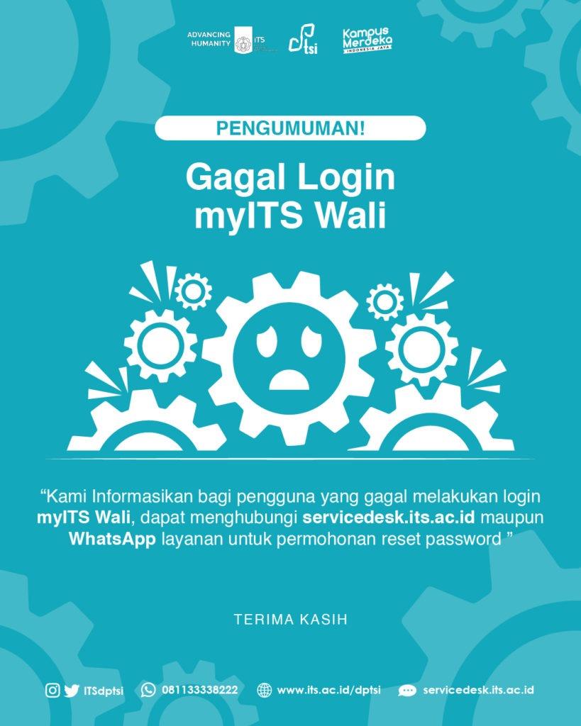 Mengatasi Sulit Login myITS Wali