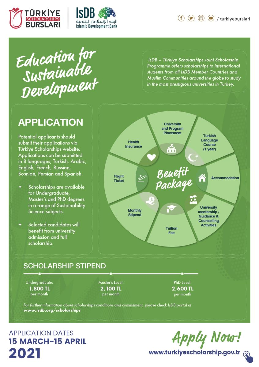 Wcu Academic Calendar 2022.Call For New Applications For The Isdb Turkiye Scholarships International Joint Scholarship Programme For Academic Year 2021 2022 Its Global Engagement