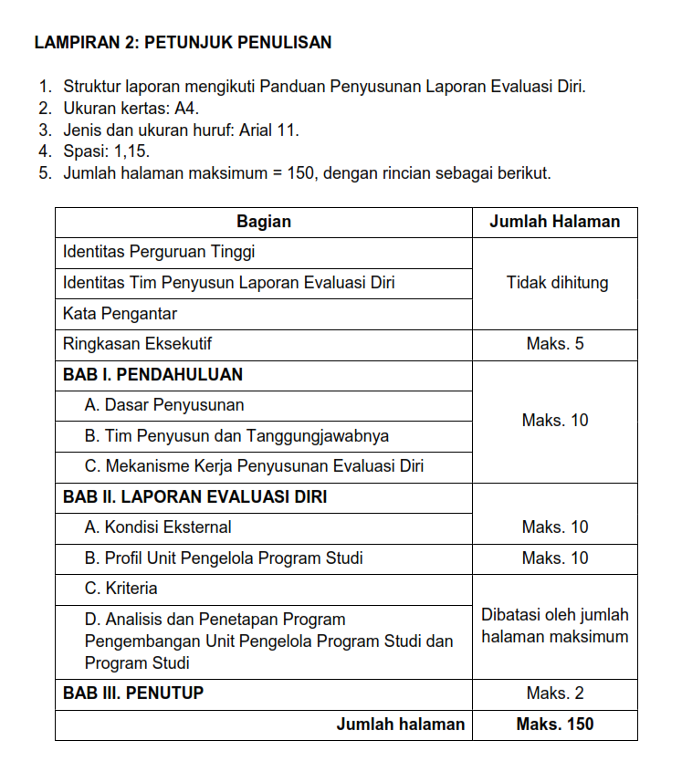 Laporan Evaluasi Diri Led Dan Kinerja Program Studi Kps Ppt Download
