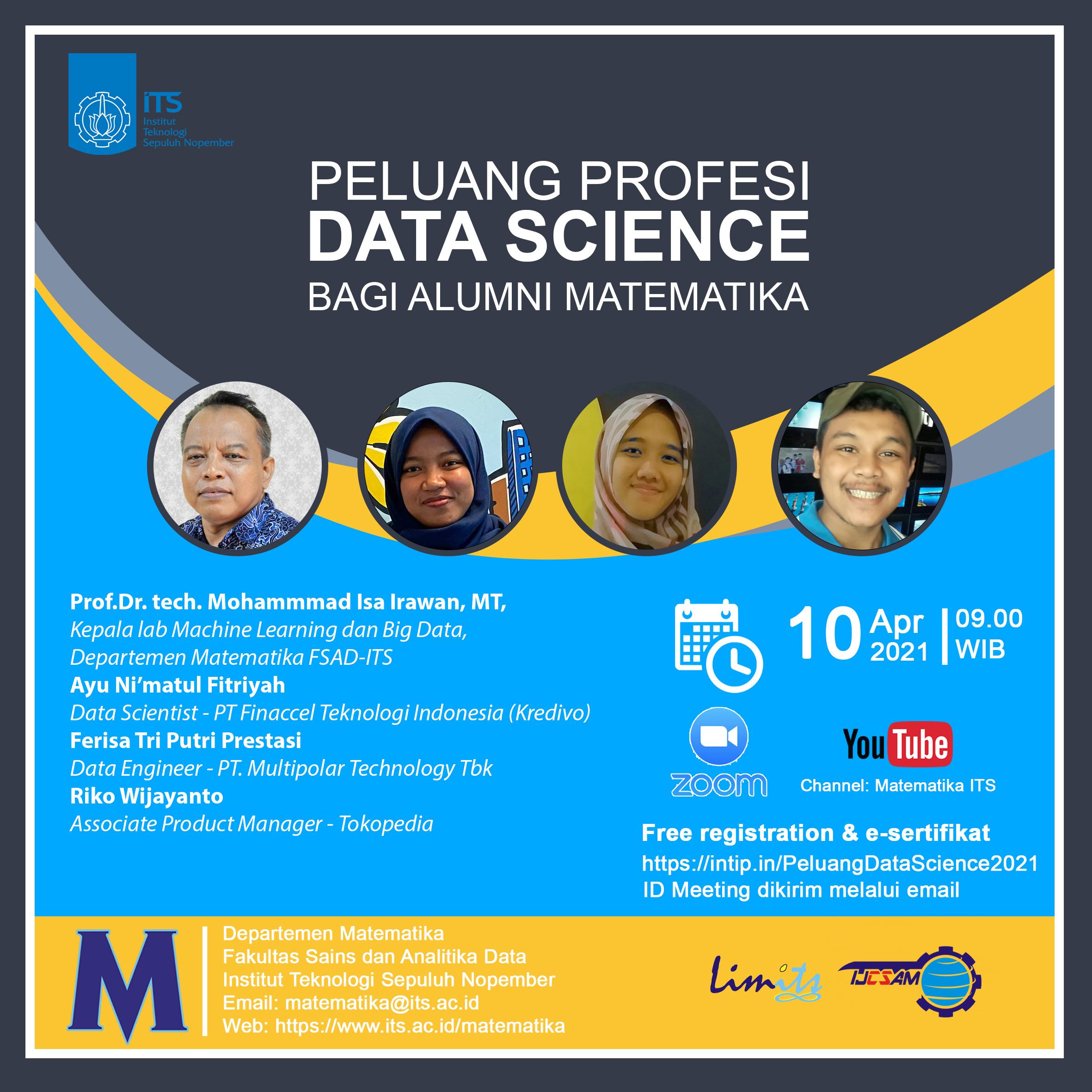 PELUANG PROFESI DATA SCIENCE BAGI ALUMNI MATEMATIKA