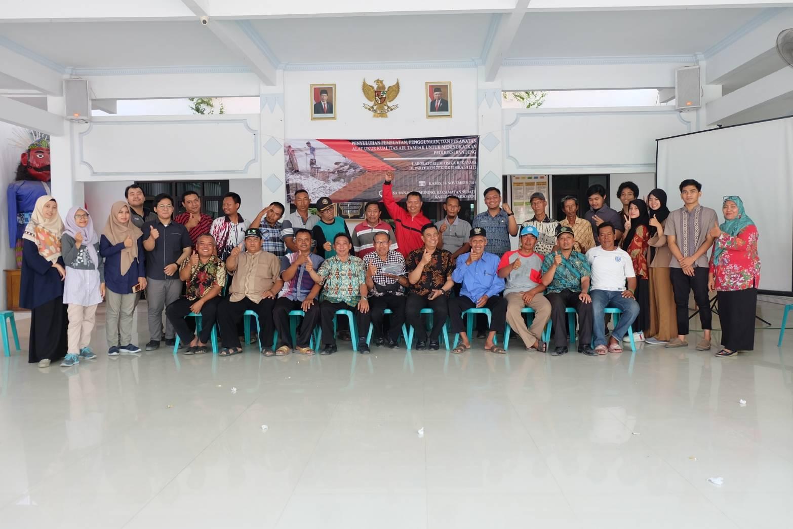 Laboratorium Fisika Rekayasa Dampingi Petani Bandeng Jaga Kualitas Air Tambak