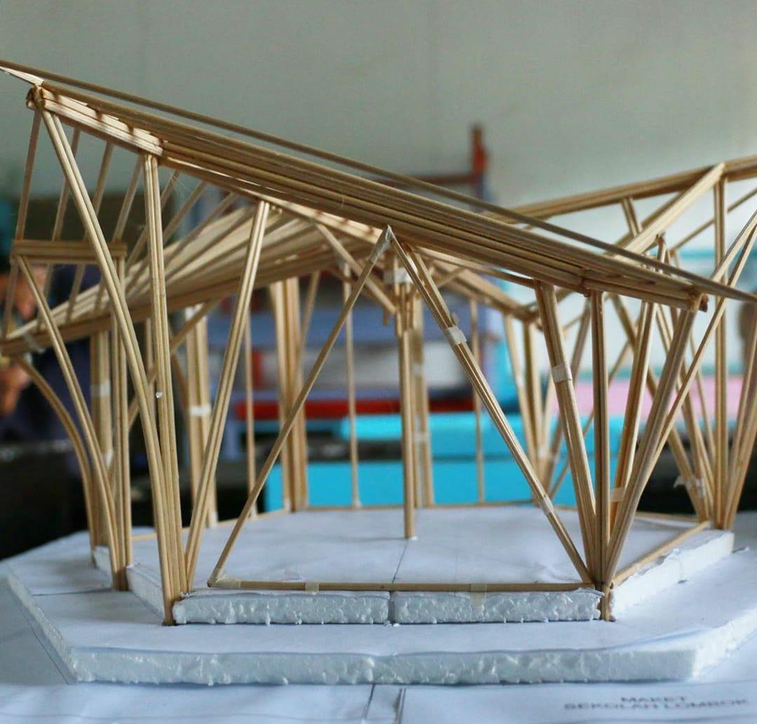 Maket-rancangan-sekolah-bambu