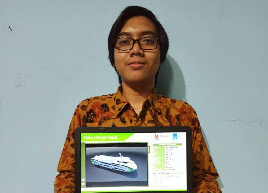 KM Tamanna rancangan tim mahasiswa ITS