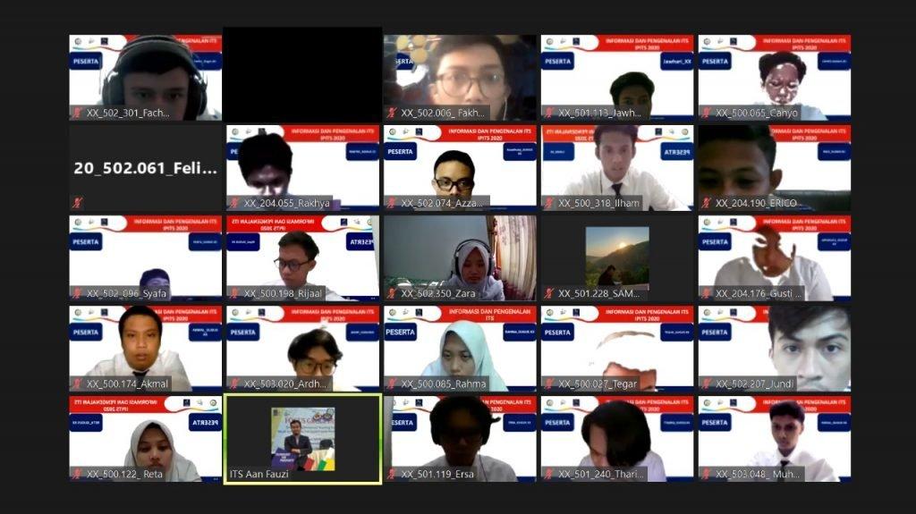 Suasana ruang virtual meeting zoom IPITS pada gugus XX