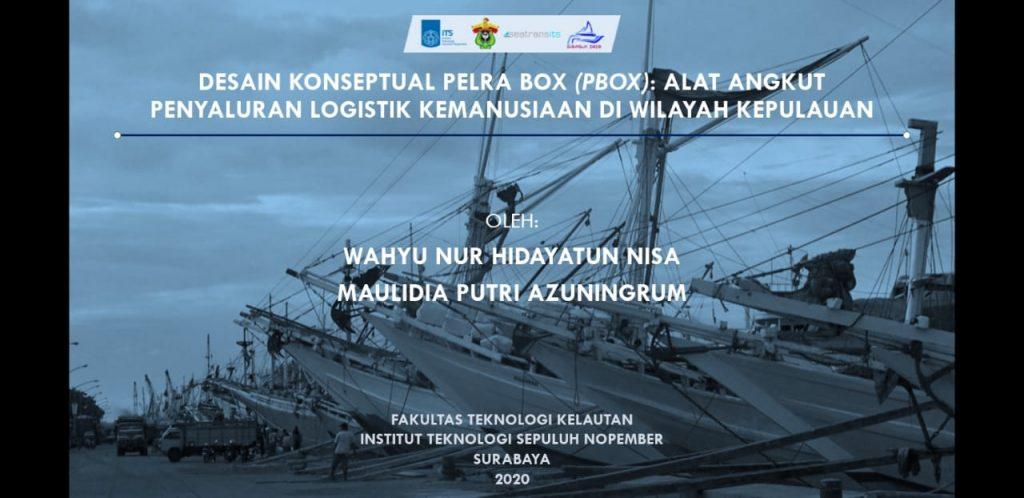 Gambaran gagasan inovasi oleh dua mahasiswa Departemen Teknik Transportasi Laut ITS yang berhasil meraih juara pertama lomba esai KONKA 2020