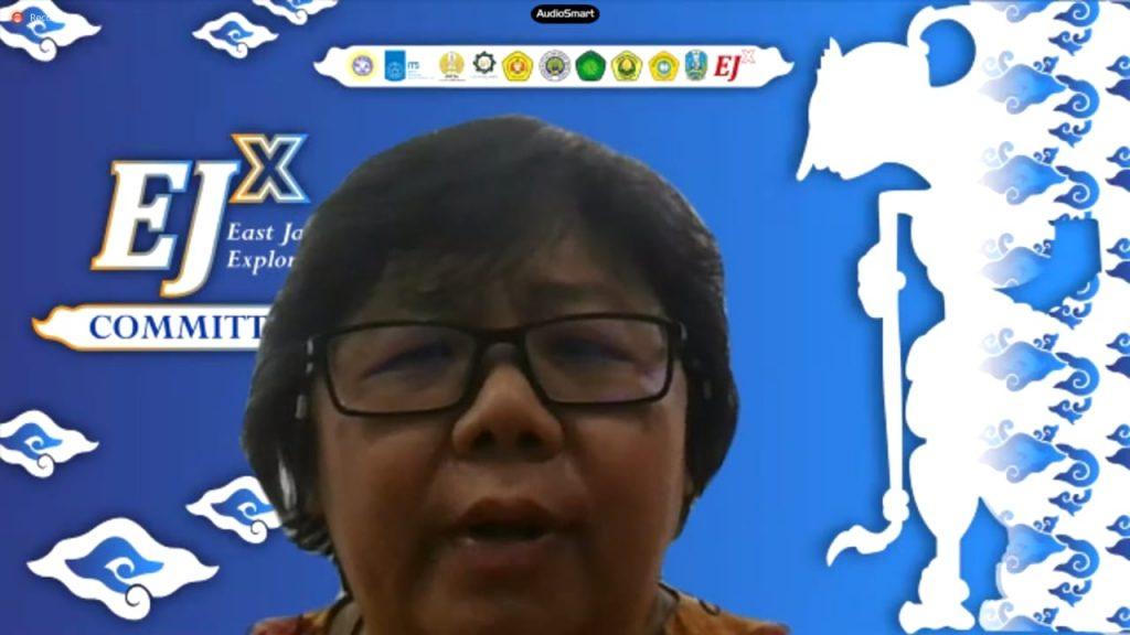 Direktur Kemitraan Global ITS Dr Maria Anityasari ST ME dalam acara pembukaan East Java Exploration (EJx) Batch September