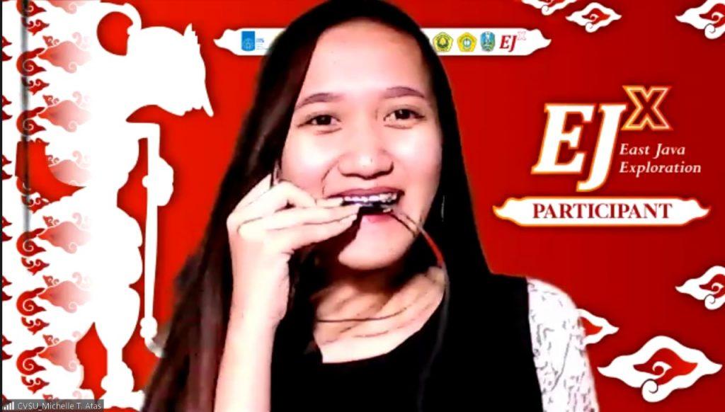 Salah satu peserta internasional dari Cavite State Univeristy Main-Campus Filipina, Michelle T Atas