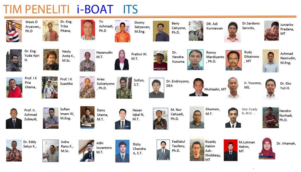 Jajaran Tim Peneliti i-Boat Institut Teknologi Sepuluh Nopember