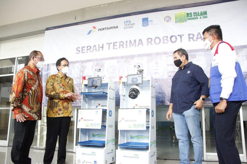 (dari kiri) dr H Samsul Arifin MARS, Prof Dr Ir Mochamad Ashari MEng, Dr Ir I Ketut Gunarta MT, dan C D Sasongko