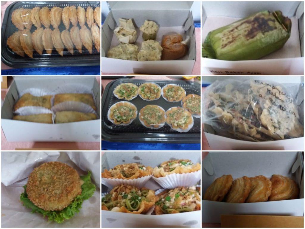 Beberapa produk hasil olahan Omah Kelor, seperti pastel kelor, mie kelor, siomay kelor, nasi bakar kelor, martabak kelor, burger kelor, rempeyek kelor dan lain-lain