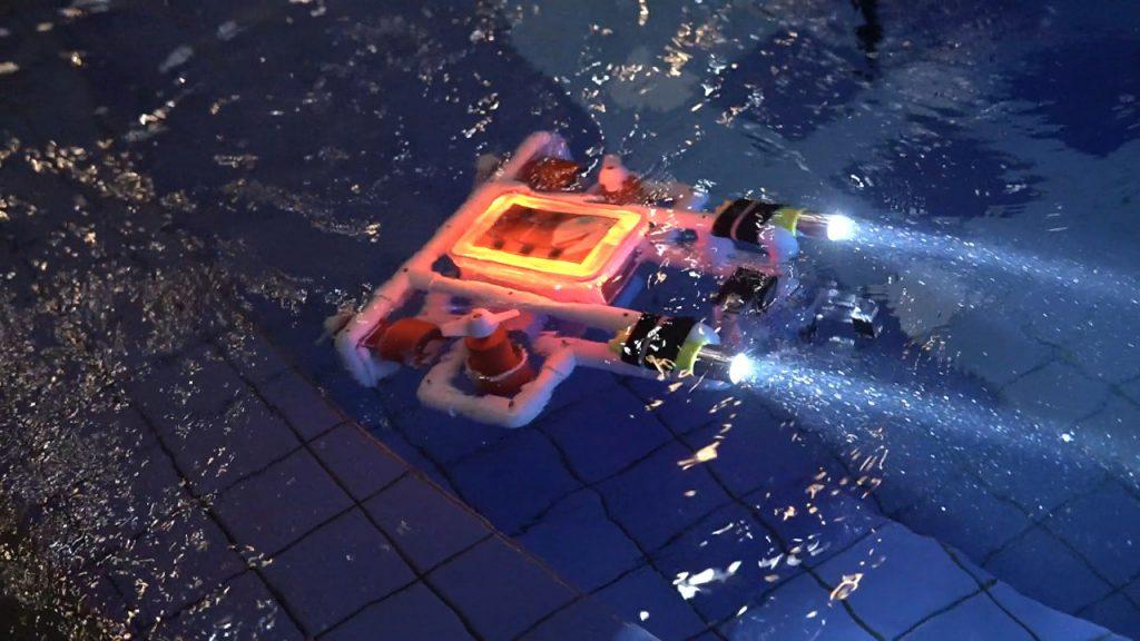 Pengujian Prototipe Robot Wikraluga Tim Banyubramanta ITS untuk mendeteksi ranjau laut