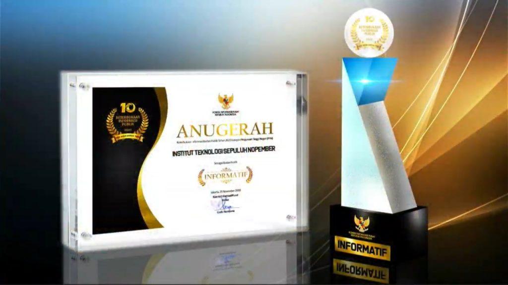 Institut Teknologi Sepuluh Nopember (ITS) berhasil mendapatkan predikat Informatif kategori Perguruan Tinggi Negeri dalam ajang Anugerah Keterbukaan Informasi Publik 2020