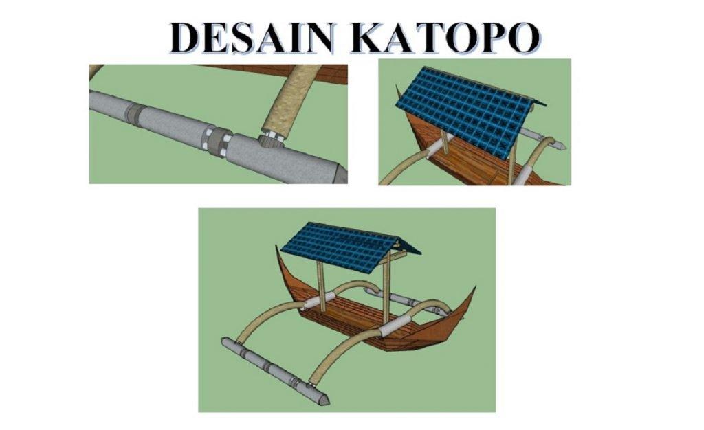 Katopo, Barco Jukung ecológico