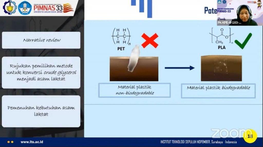 Penjelasan tentang kebermanfaatan Asam Laktat sebagai material plastik PLA yang mudah terurai