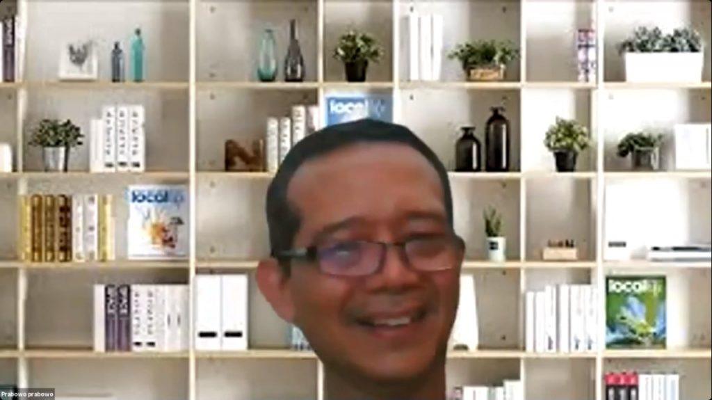 Prof Dr Ir Prabowo MEng yang terpilih sebagai Sekretaris Dewan Profesor ITS periode 2021-2025 saat mengikuti acara secara daring