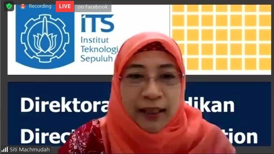 Direktur Pendidikan ITS Dr Siti Machmudah ST MEng menjadi pembicara pada talkshow sosialisasi penerimaan mahasiswa baru ITS 2021 yang dihelat secara daring