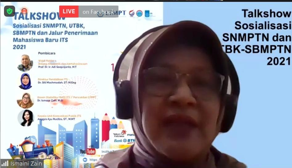 Koordinator Sosial dan Promosi LTMPT 2021 Dr Ismaini Zain MSi menjelaskan jalur penerimaan mahasiswa baru 2021