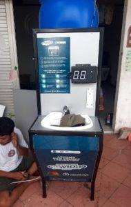 Tampilan PETIS, alat cuci tangan otomatis rancangan Tim Abmas Departemen Teknik Elektro ITS