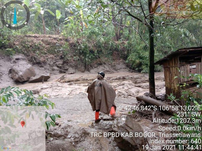 Dokumentasi kawasan di daerah Bogor yang diterjang banjir bandang (Sumber: BPBD Bogor)