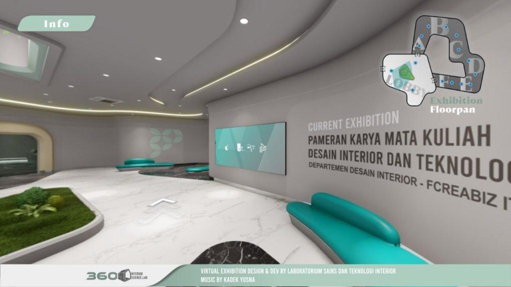 Masuk ke dalam pameran virtual, pengunjung akan disuguhi tampilan Lobi SPATIAL Virtual Gallery