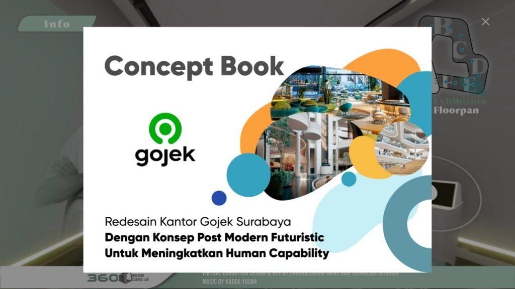 Salah satu karya mahasiswa yang dipamerkan dalam Pameran Virtual Imersif Karya Desain Interior dan Teknologi Departemen Desain Interior ITS