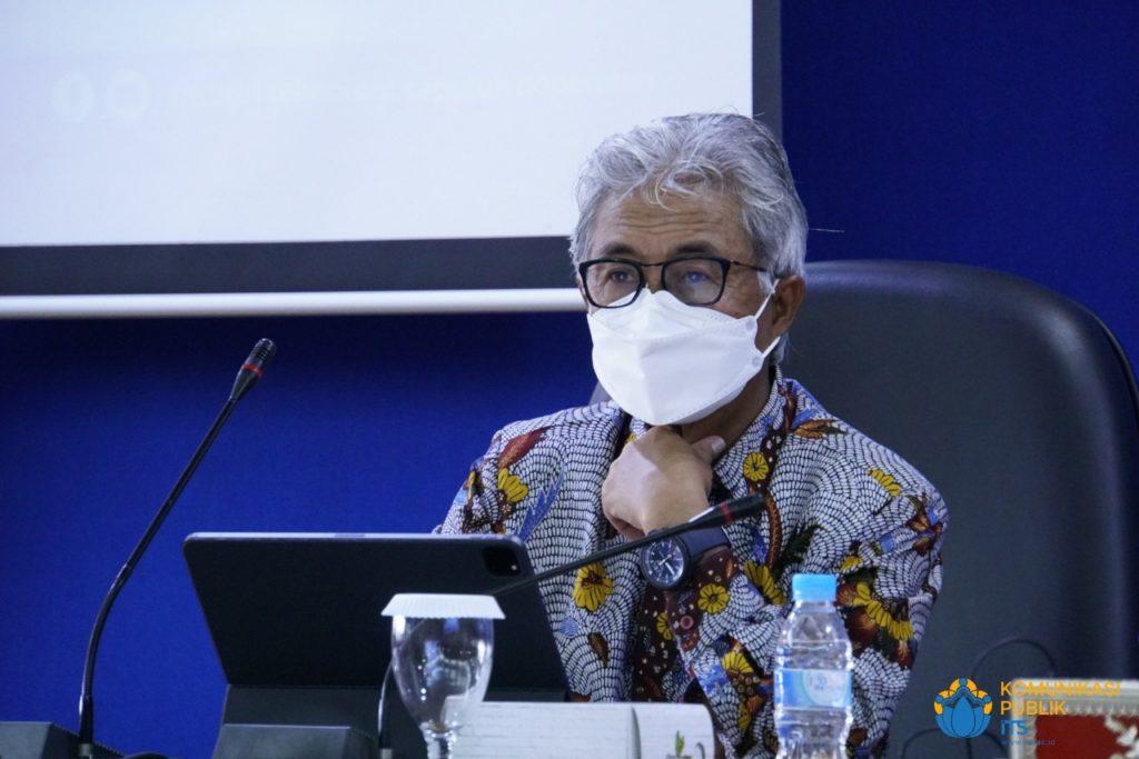 Kepala SKK Migas Dr Ir Dwi Soetjipto saat hadir pada penandatanganan MoU di ITS