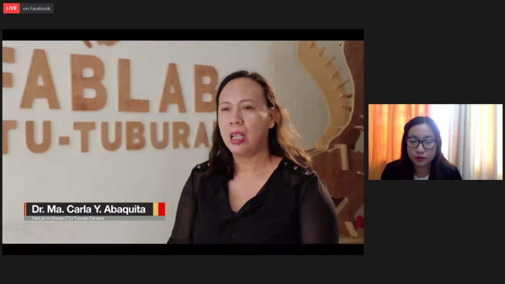Presentasi video profil CTU Filipina oleh Doris O Gascon DA (frame kanan) di pertengahan sesi acara