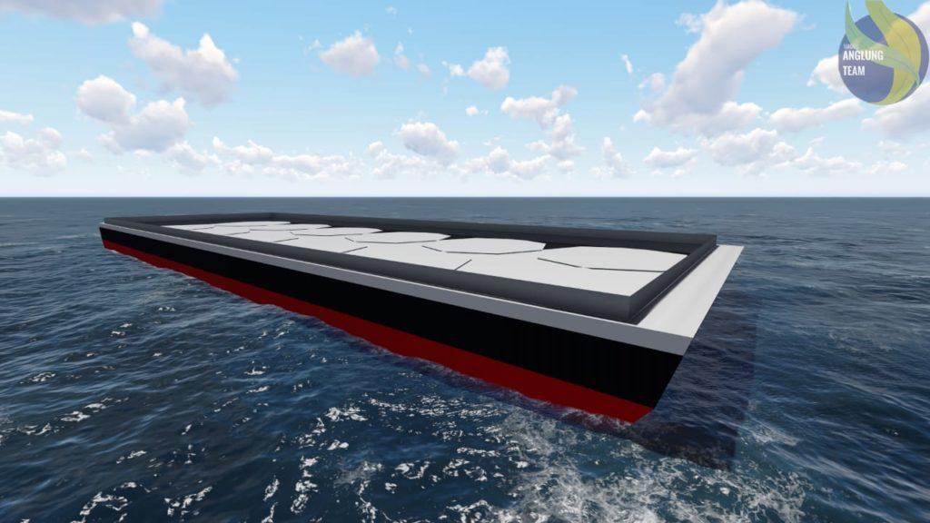 Desain kapal tongkang bertangki coselle rancangan tim mahasiswa ITS