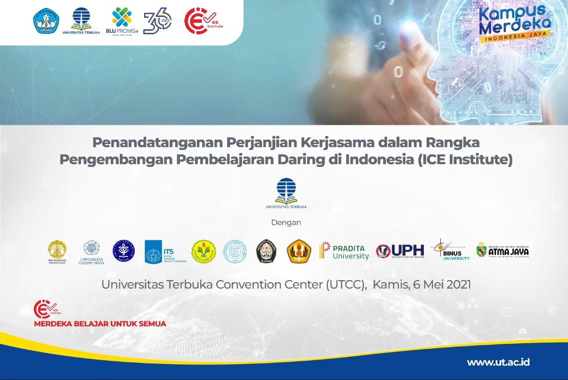 Pembukaan acara penandatanganan perjanjian kerja sama antara UT dan 12 perguruan tinggi negeri dan swasta di Indonesia termasuk ITS