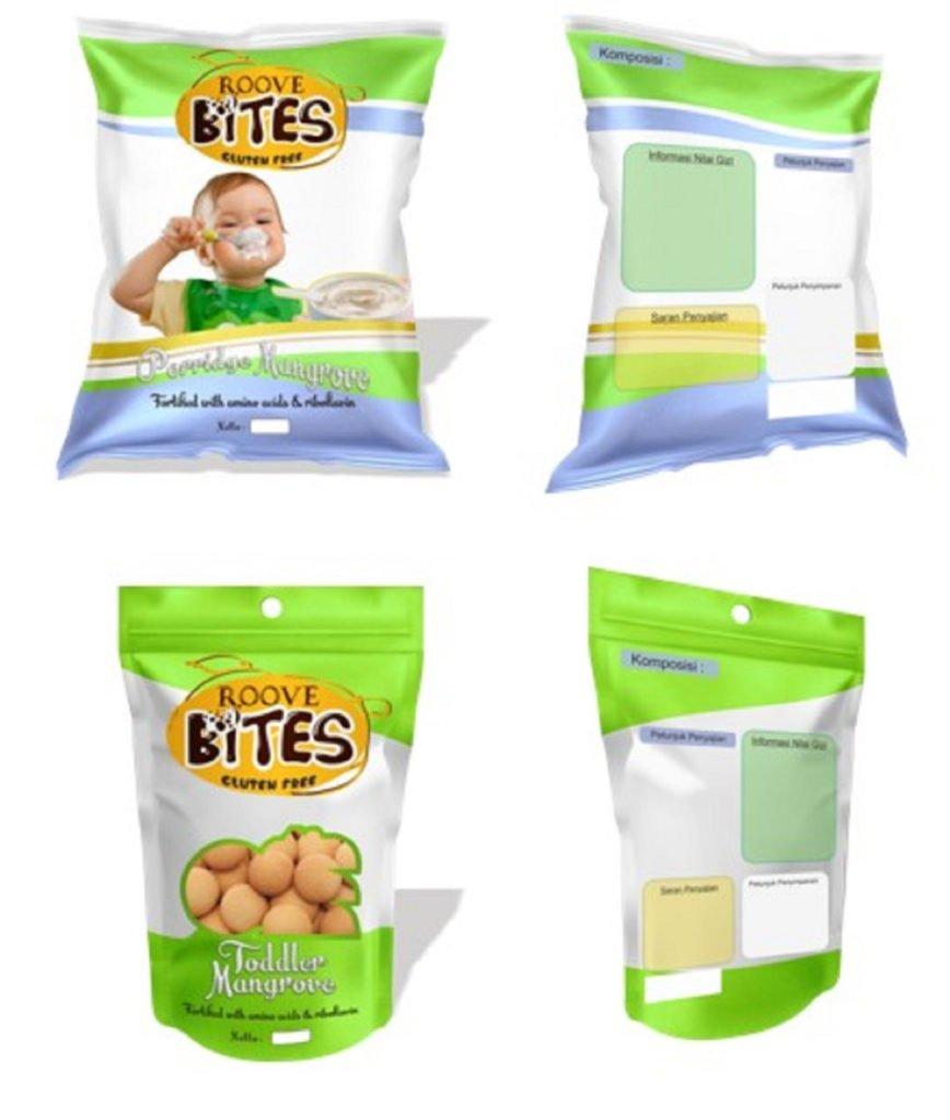 (dari atas) Tampilan kemasan RooveBites Porridge dan RooveBites Toddler yang digagas tim mahasiswa ITS