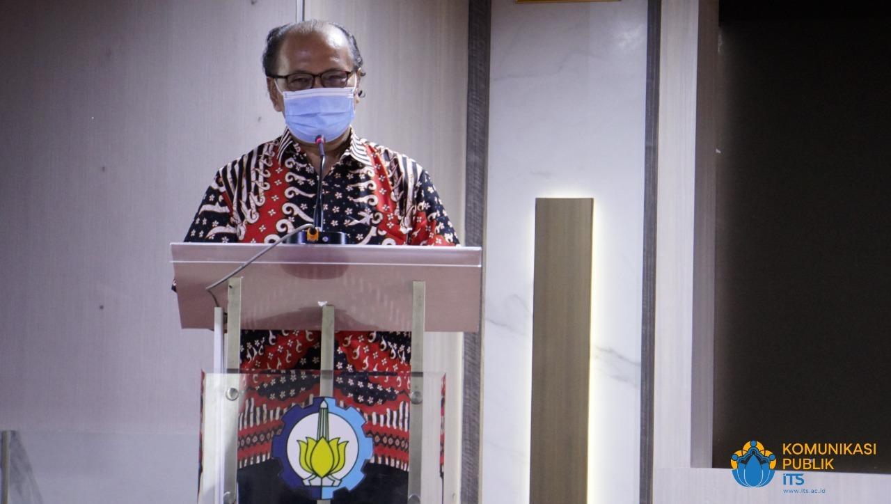 Sambutan Prof Dr Ir Vincentius Totok Noerwasito MT selaku ayah mertua dari Almarhum Letnan Kolonel Laut (E) (Anm) Fidhelis Whilly Harsono Putra ST