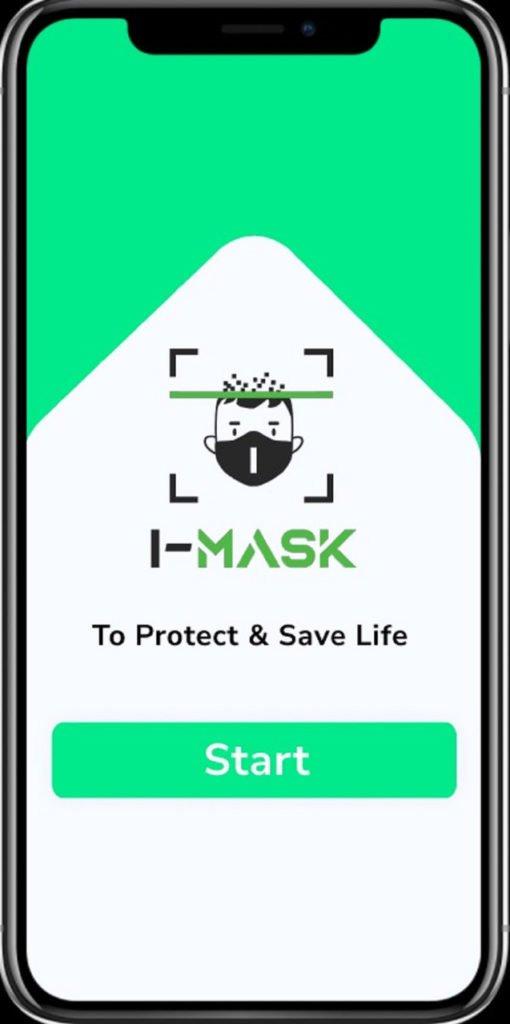 Tampilan aplikasi I-Mask buatan tim mahasiswa ITS