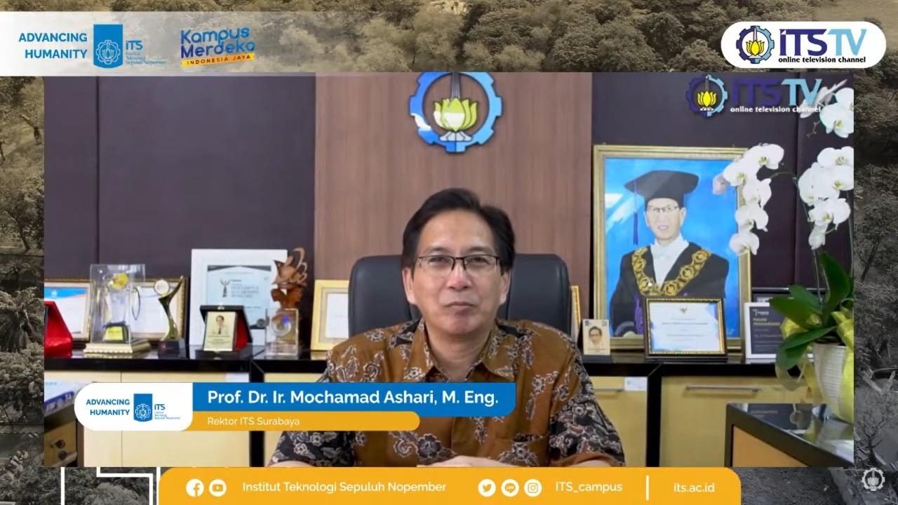 Rektor ITS Prof Dr Ir Mochamad Ashari MEng turut hadir dalam acara peresmian Teaching Industry secara virtual