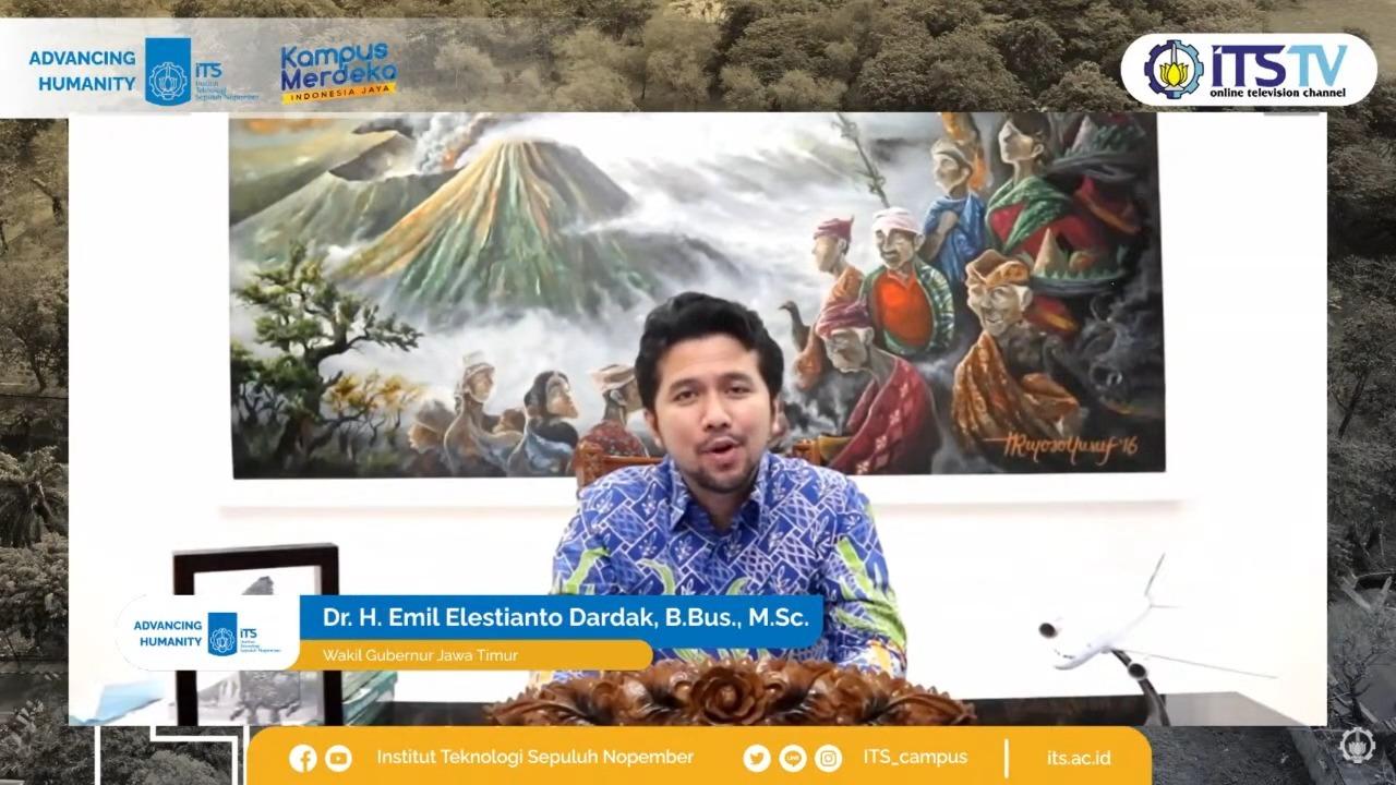 Wakil Gubernur Jawa Timur Dr H Emil Elestianto Dardak BBus MSc memberikan dukungan langsung bagi Teaching Industry ITS