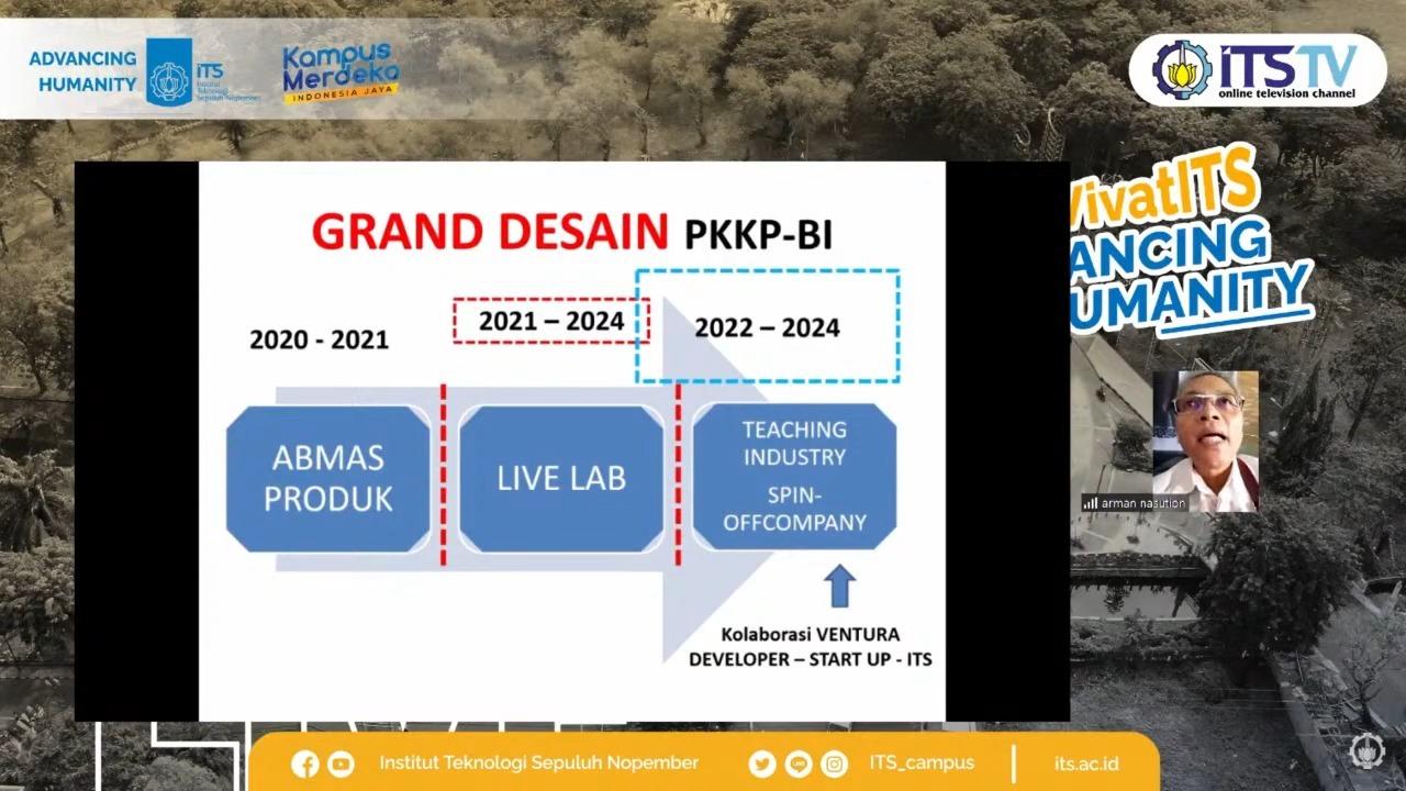 Skenario ke depan Teaching Industry ITS yang dijelaskan oleh Kepala PKKP bidang Bisnis dan Industri ITS Dr Arman Hakim Nasution