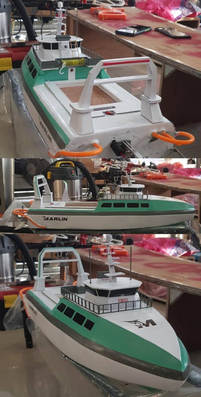 Kapal Marlin gagasan Tim Barunastra ITS yang diperlombakan dalam COMET 2.0 2021