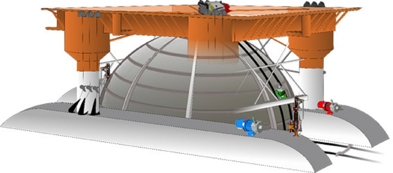 Rancangam desain pembangkit listrik bawah laut yang digagas tim mahasiswa ITS