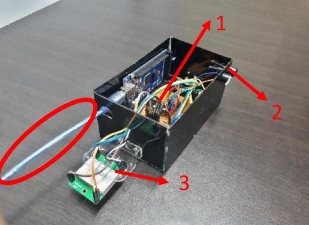 Visualisasi dari instrumen SENOPATI tampak samping kiri