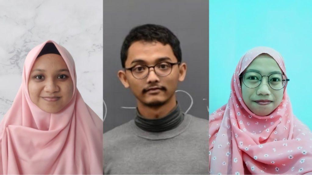 Tiga mahasiswa ITS perancang Bahasa Booster, (dari kiri) Dinda Fadhila, Azzam Jihad Ulhaq, dan Shabrina Nur Lathifatul Afifah yang tergabung dalam tim Bahasa Booster