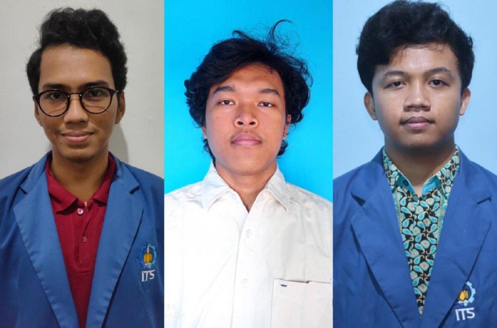 (dari kiri) Mario Dwi Prasetyo, Adam Mail, dan Aldimas Kurniawan Pratama, tim mahasiswa ITS penggagas inovasi Jakarta Smart Island (Jaks-Island)