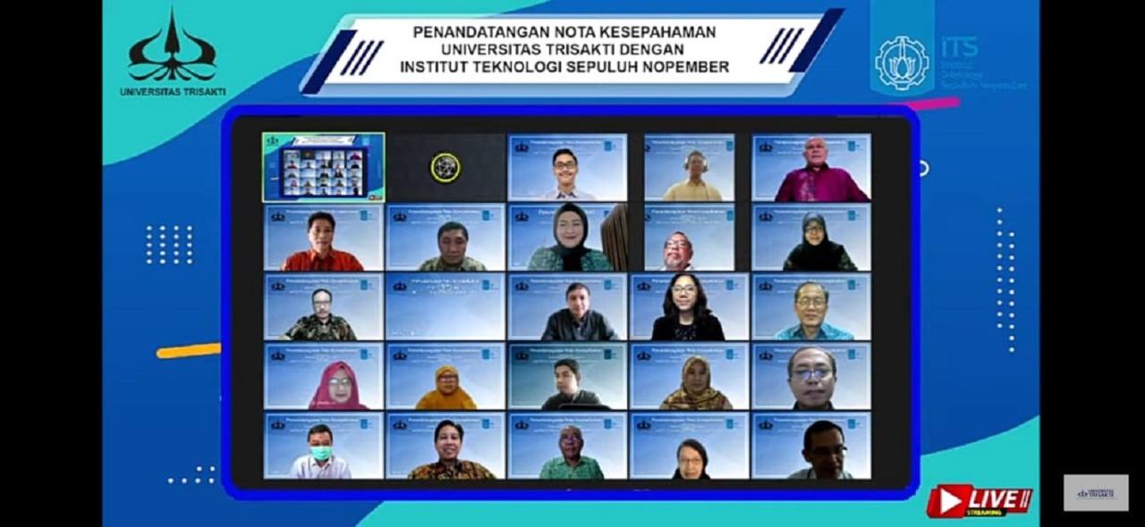 Foto bersama seluruh partisipan dari kedua instansi usai proses penandatanganan nota kesepahaman