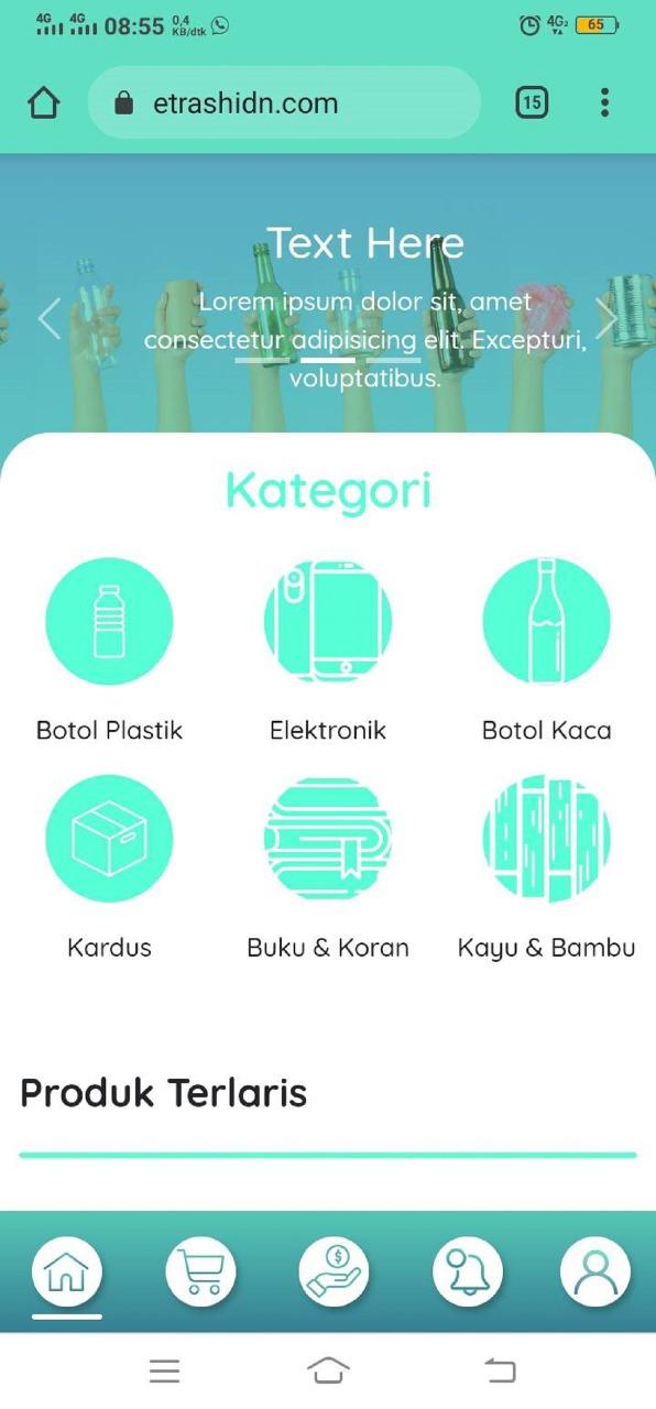 Enam kategori sampah yang tersedia dalam aplikasi E-Trash, karya tim mahasiswa ITS