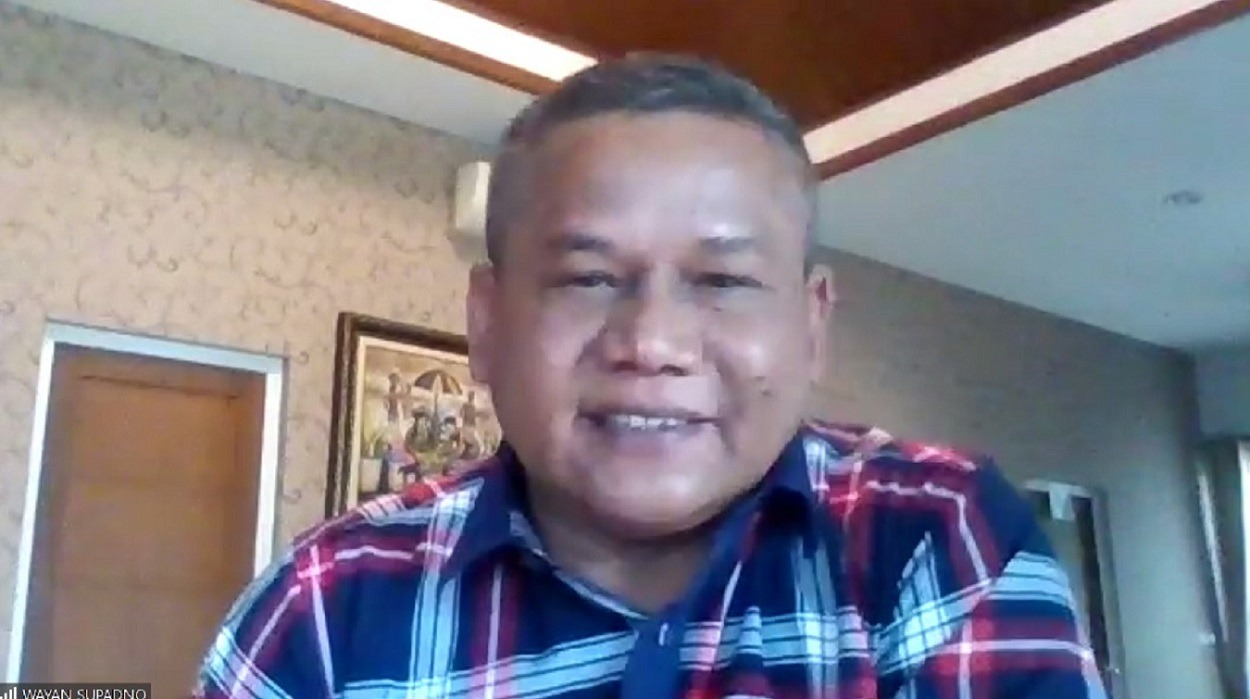 Expert practitioner of land remediation, Wayan Supadno, when delivering policy recommendations with the theme of Land Remediation Technology for Food Security