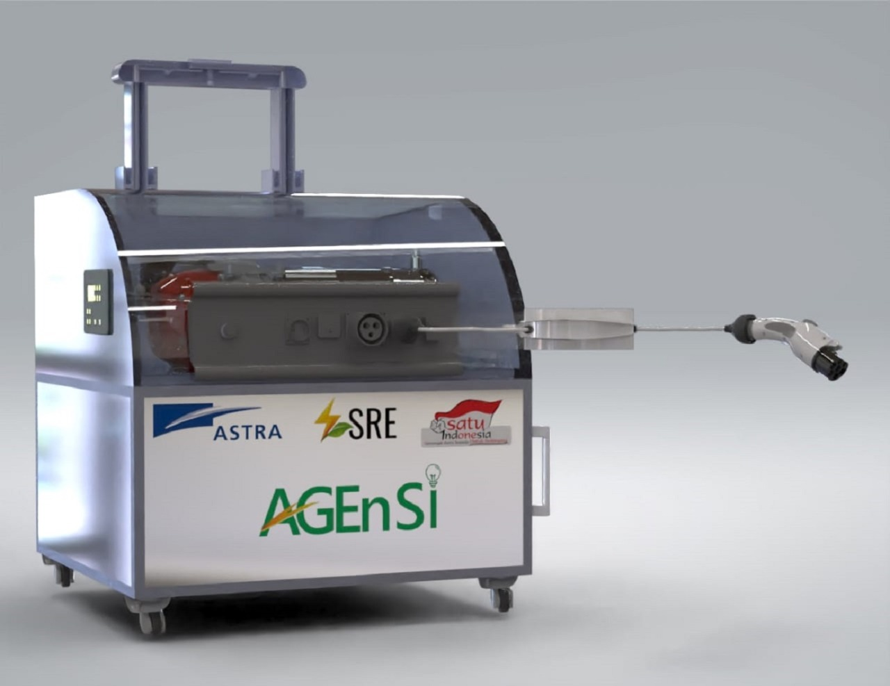 Prototipe dari Antasena Portable Charger Electric Vehicle (PCEV) yang diikutsertakan dalam ajang AGEn SI 2021