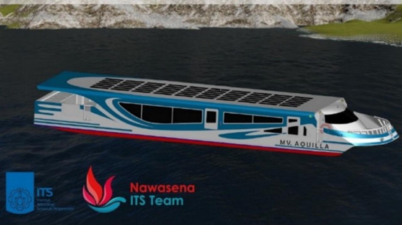 Desain Kapal MV Aquilla karya Tim Nawasena ITS pada kompetisi WFSA (Worldwide Ferry Safety Association)- International Student Design Competition 2019
