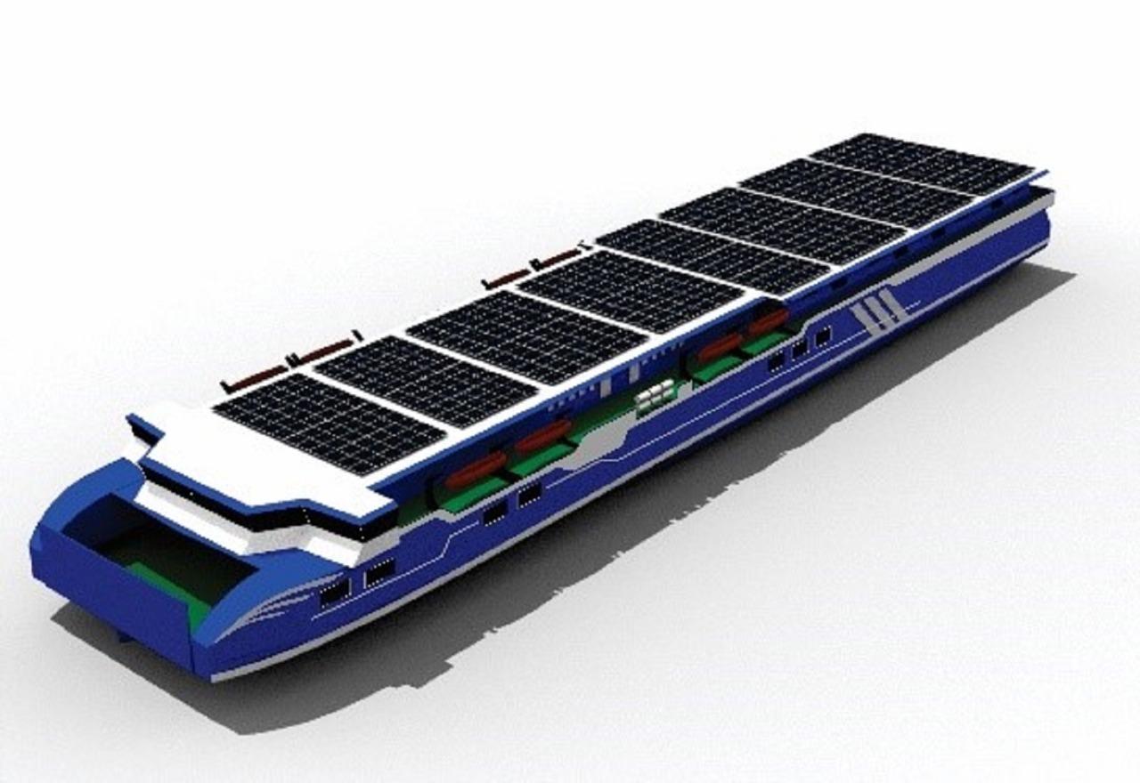 Desain Kapal MV Hydrombita rancangan Tim Nawasena ITS pada kompetisi WFSA (Worldwide Ferry Safety Association)- International Student Design Competition 2020