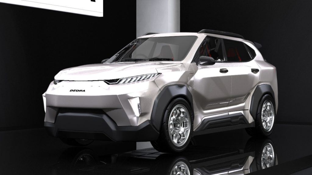 Ilustrasi desain luar mobil listrik i-Deora, rancangan tim SACH-MOLINA ITS