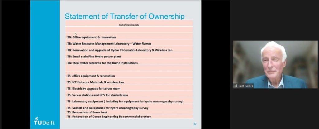 Granted assets dalam proyek IDN265 yang diserahterimakan kepada ITS dan ITB