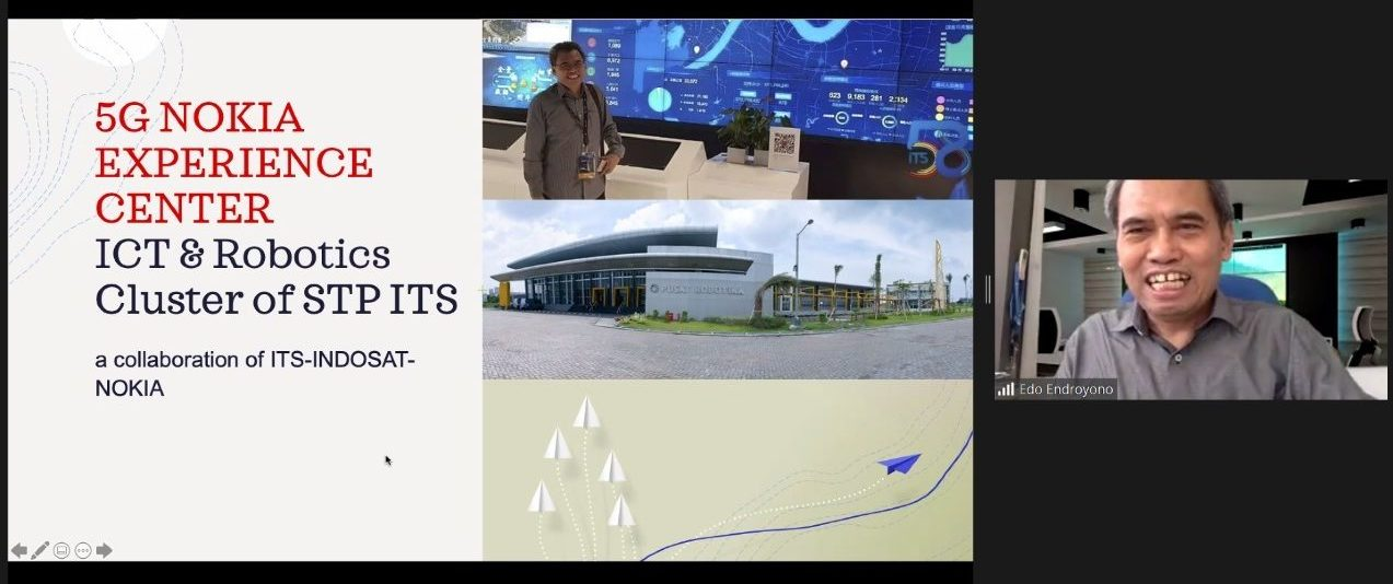 Dr. Ir Endroyono DEA is presenting the soon to be built 5G Experience Center program at ITS