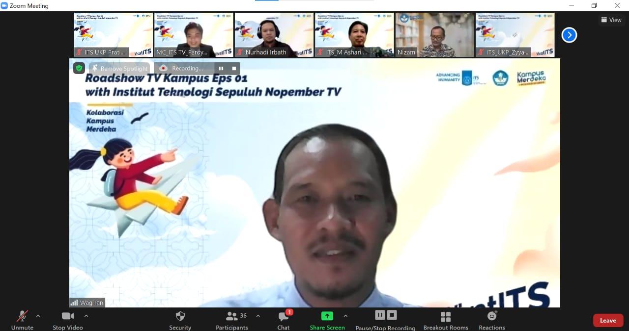 Dr Wagiran MPd selaku Ketua Sub Pokja Kampus Mengajar dalam diskusi Kampus Merdeka